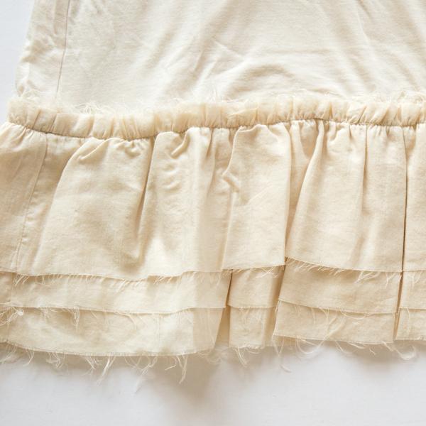 裾のフリル(LIGHT BEIGE)