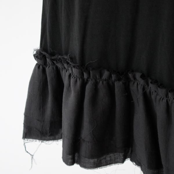 裾のフリル(BLACK)