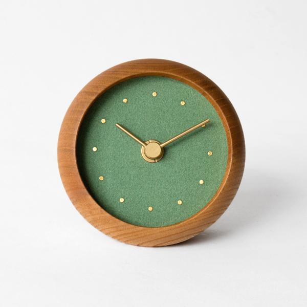 はなもっこ 置時計 プレーン(緑瑪瑙)