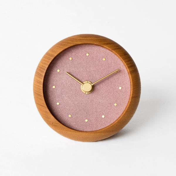 はなもっこ 置時計 プレーン(桜鼠)