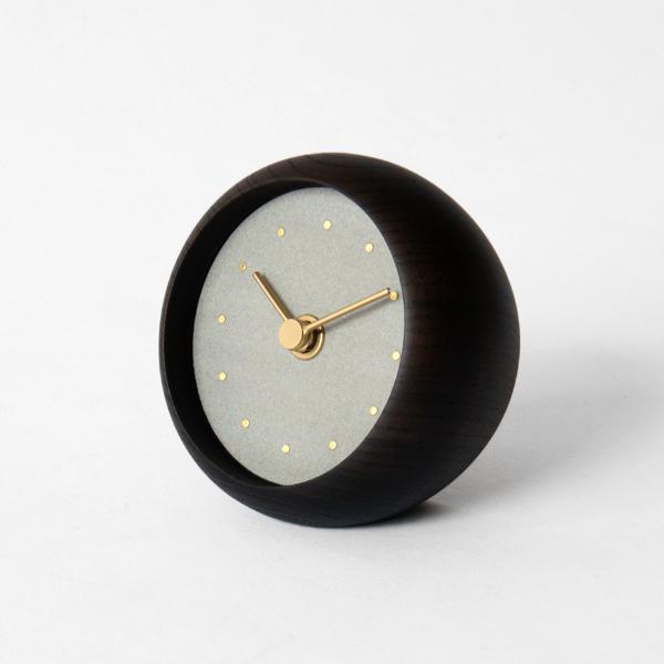 はなもっこ 置時計 ブラック(薄墨)