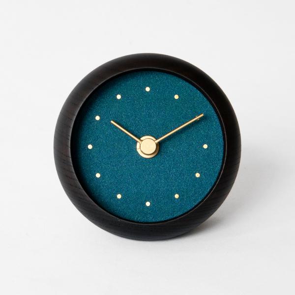 はなもっこ 置時計 ブラック(群緑)