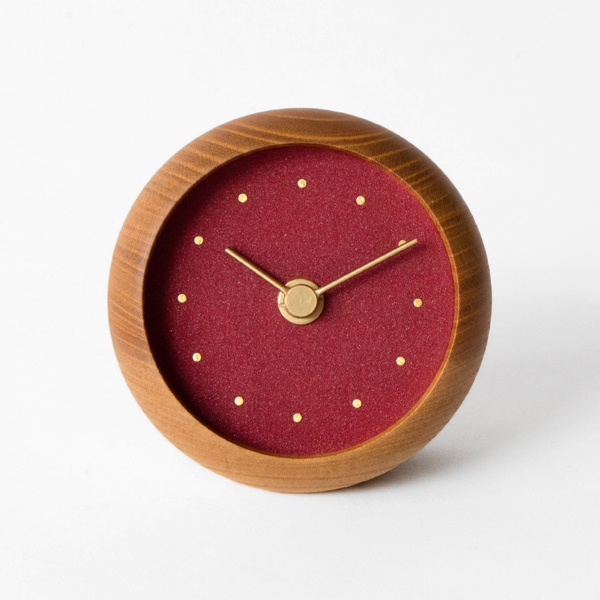 はなもっこ 置時計 プレーン(辰砂)