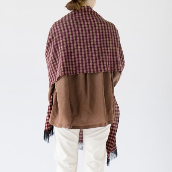 肌寒いときは羽織って寒さ対策(WINE PURPLE)