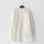 綿ウールピンタックシャツ