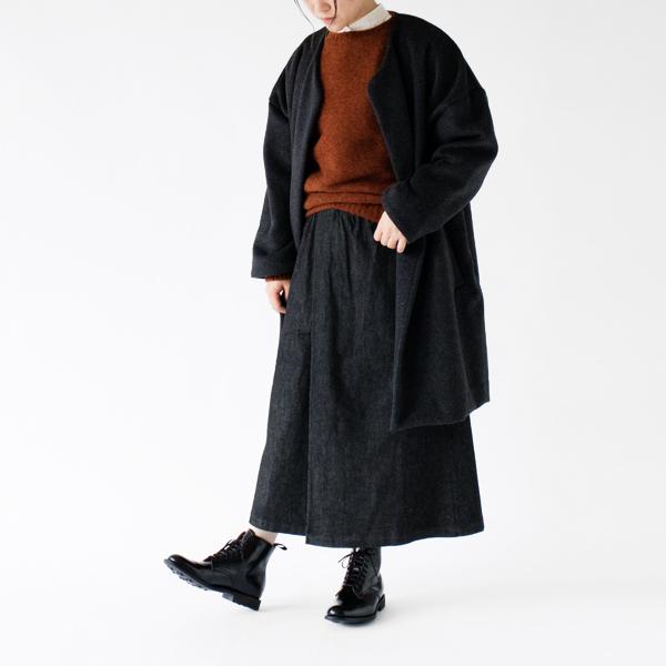 冬のスタイルにも相性の良いシャツ モデル身長:162cm(BEIGE)