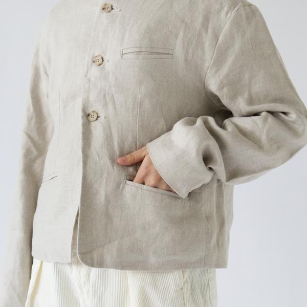 両サイドと左胸にポケット(NATURAL)