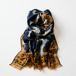 WOOL STOLE ABC BROWN