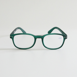 READING GLASSES B GREEN CRYSTAL