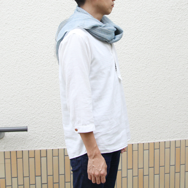 着用イメージ(藍いろ色 水色は、男性にもおすすめです)