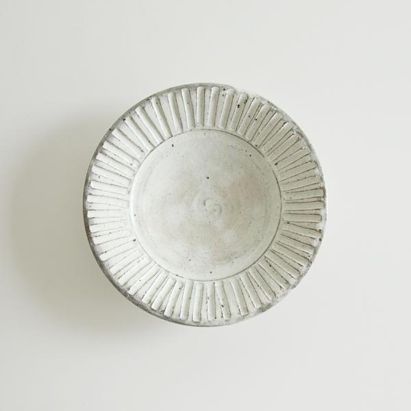 粉引 リム皿(6寸)