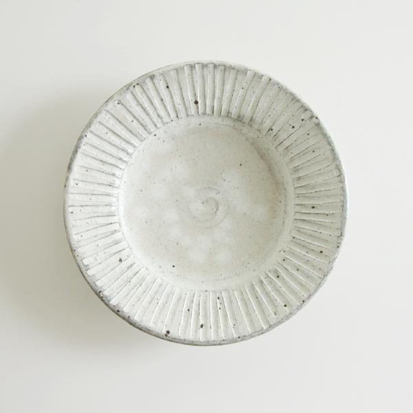 粉引 リム皿(9寸)