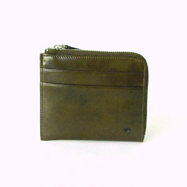 L字ジップ財布 グリーン
