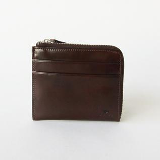 L-shaped zip wallet