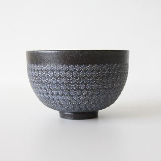Green tea bowl Mishima