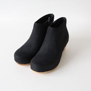 アンクルブーツ MARIA Black Milled Nubuck