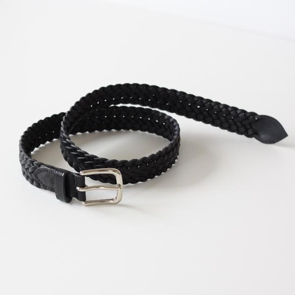 9plait belt-black