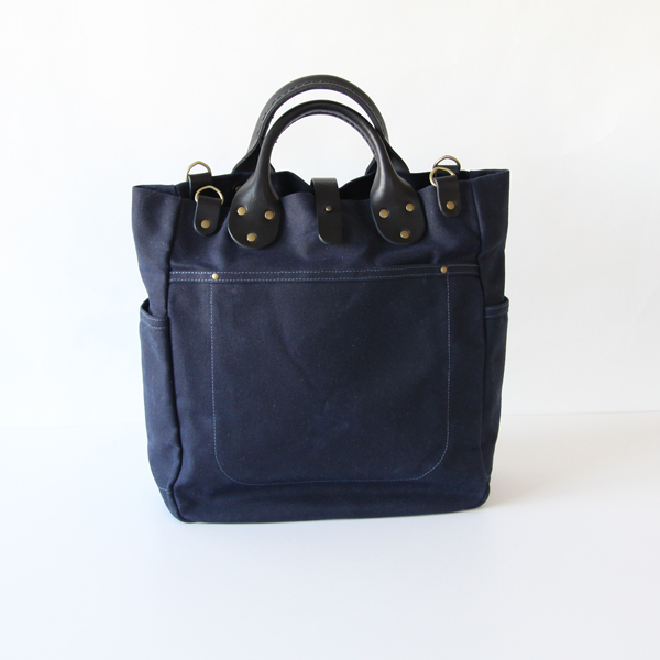 Garrison Carry-All / Waxed / Black Leather  Navy Waxed