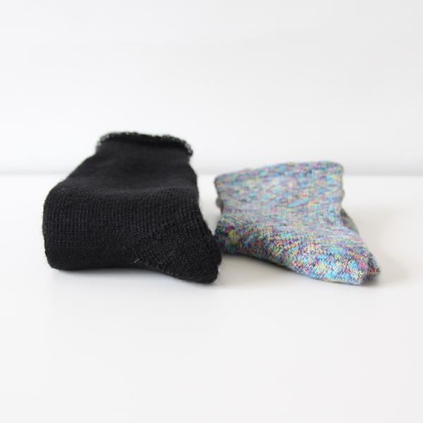 一般的な靴下より厚手の防寒対策ソックス