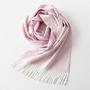マフラー Arran Semi Reversible/White×Light Pink