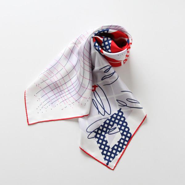 スカーフ HAND DRAWING RED