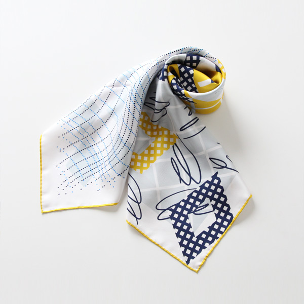 スカーフ HAND DRAWING YELLOW