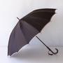 甲州織 長傘 かさね 濃いブラウン/アッシュピンク