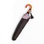 甲州織 折りたたみ傘 かさね 濃いブラウン/アッシュピンク