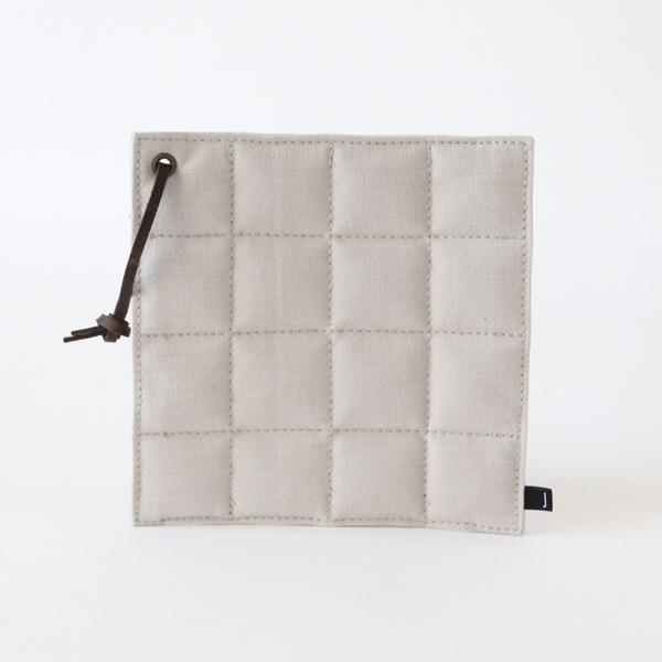 ポットマット(コットン帆布)灰白