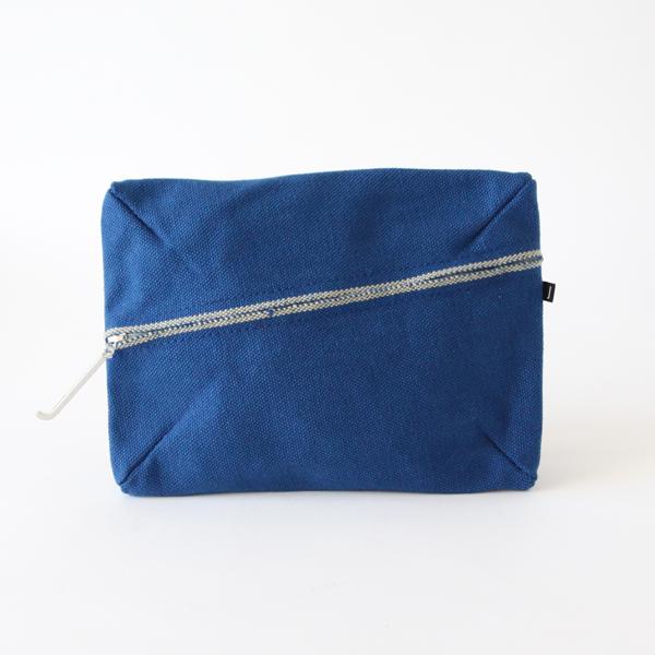 ポーチ(コットン帆布)藍