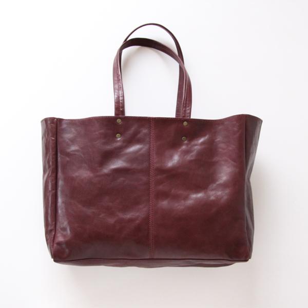 Stilton-L/Simple Totebag-L/Shoe Leather/Purple