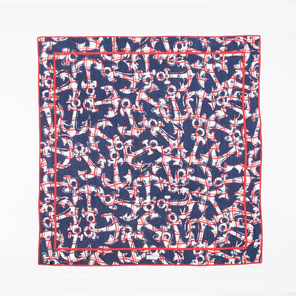 スカーフ ANCHOR RED