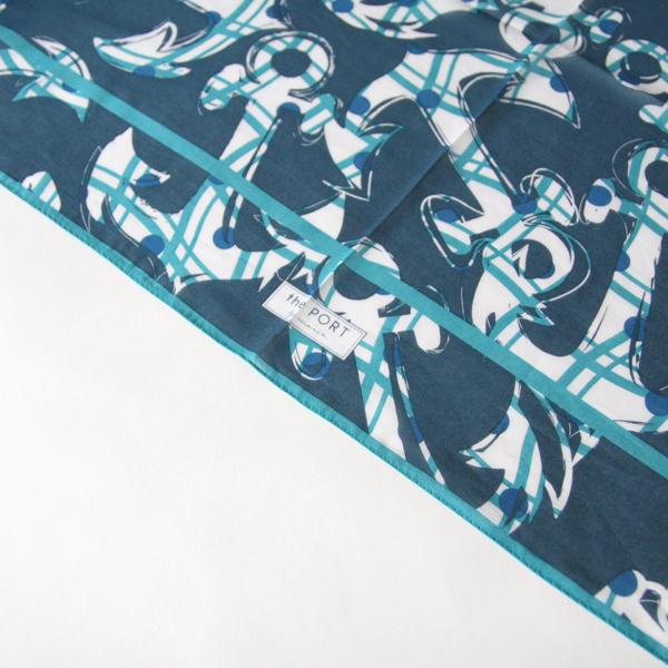 スカーフ ANCHOR BLUE
