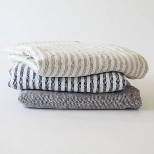 Linen chambray cotton blanket