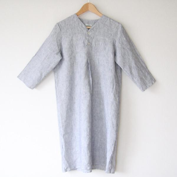 【別注】スピカリネンナイトシャツ ハーフ ホワイトシアサッカー