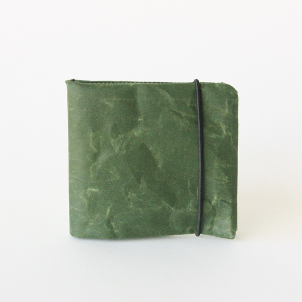 SIWA 2つ折り財布(ダークグリーン)
