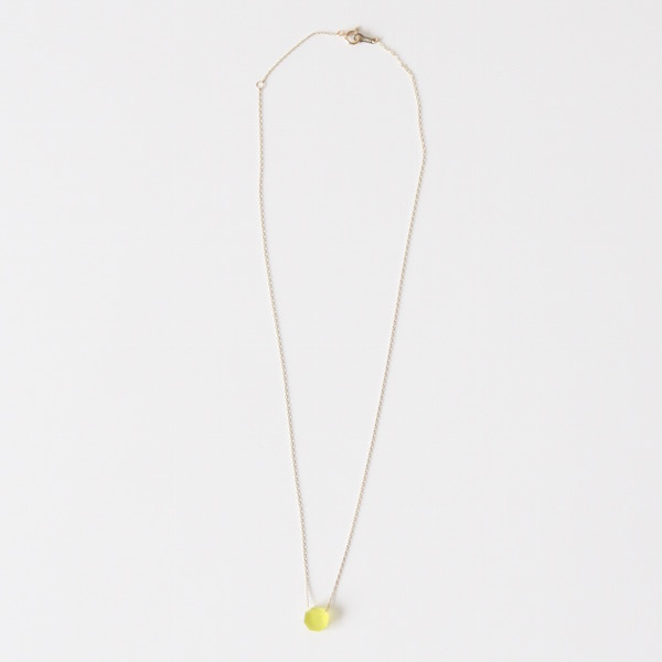 OCTAGON NECKLACE(yellow)