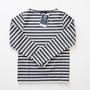 Le minor バスクシャツ 956 ANTHRACITE/BLANC