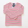 Le minor バスクシャツ 007 BLANC/ROUGE