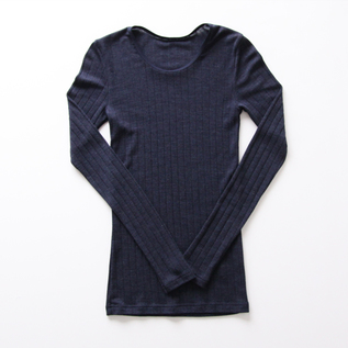 Wool silk long sleeve T-shirt