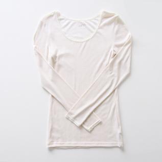 Wool silk long sleeve T-shirt