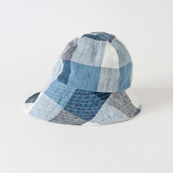 Alice Jr. Large Check Blue(キッズ帽)