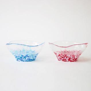 Glass bowl pair set