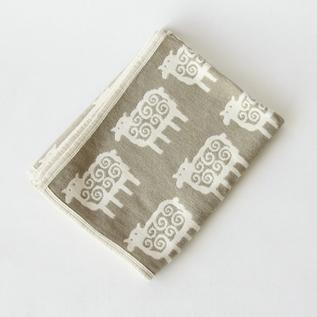 ハーフシュニールブランケット(90×140) ヒツジ ベージュ