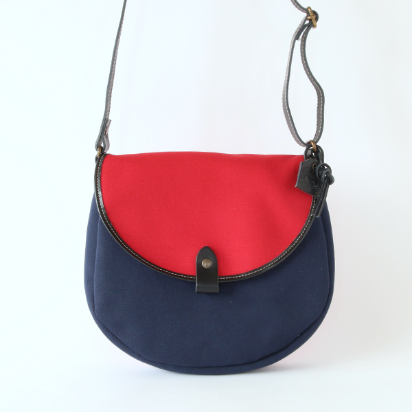 OXFORD BAG in all canvas NAVY×PIMENT