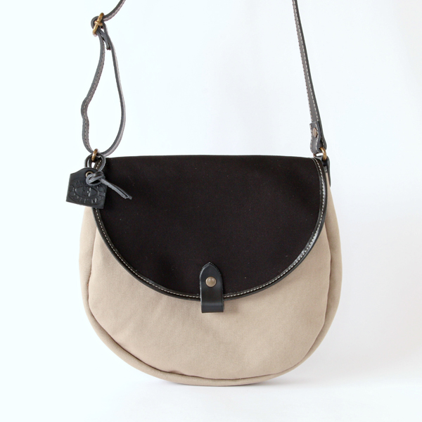 OXFORD BAG in all canvas GALET×BLACK