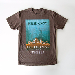 T-SHIRT THE OLD MAN AND THE SEA -BROWN
