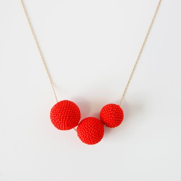 Beaded Beads ネックレス(マットレッド)