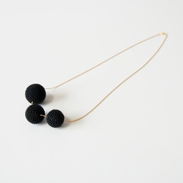 Beaded Beads ネックレス(マットブラック)