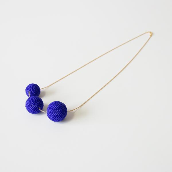 Beaded Beads ネックレス(マットブルー)